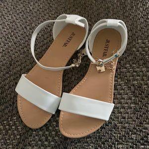 White justfab  sandals